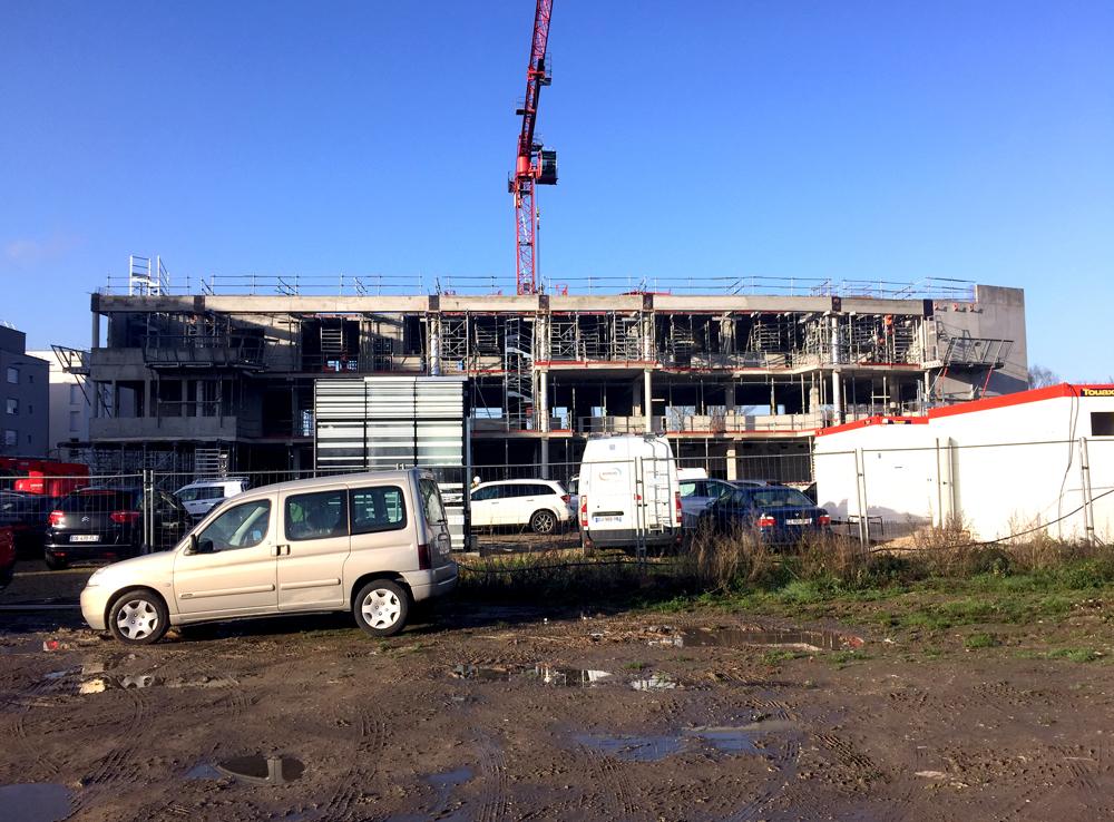 Visite du chantier du mtc rouen vib architecture for Visite de chantier