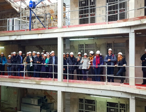 Visit of Audition Institute construction site